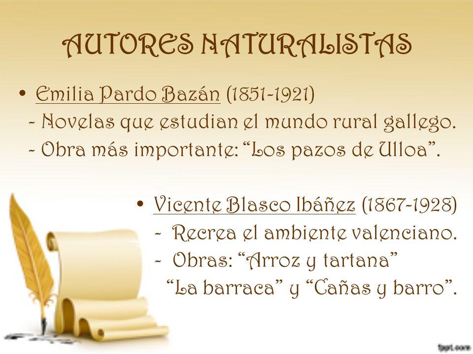 AUTORES NATURALISTAS Emilia Pardo Bazán (1851-1921)