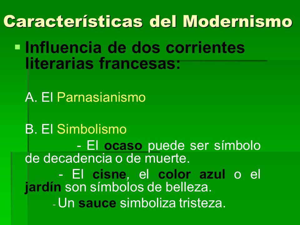 Características del Modernismo