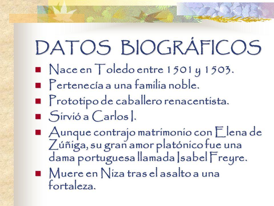 DATOS BIOGRÁFICOS Nace en Toledo entre 1501 y 1503.