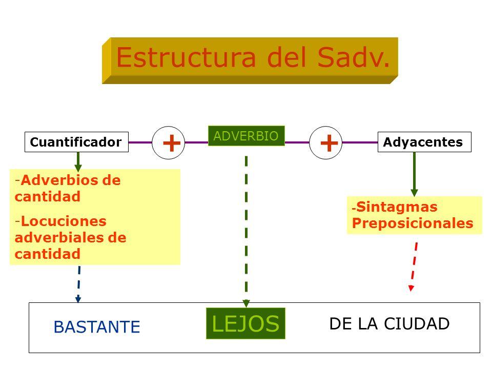 Estructura del Sadv. + + LEJOS DE LA CIUDAD BASTANTE