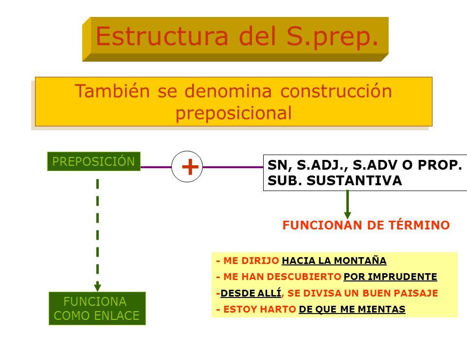También se denomina construcción preposicional