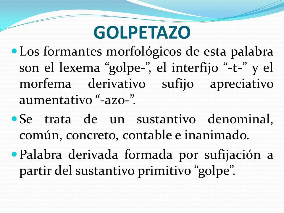 GOLPETAZO