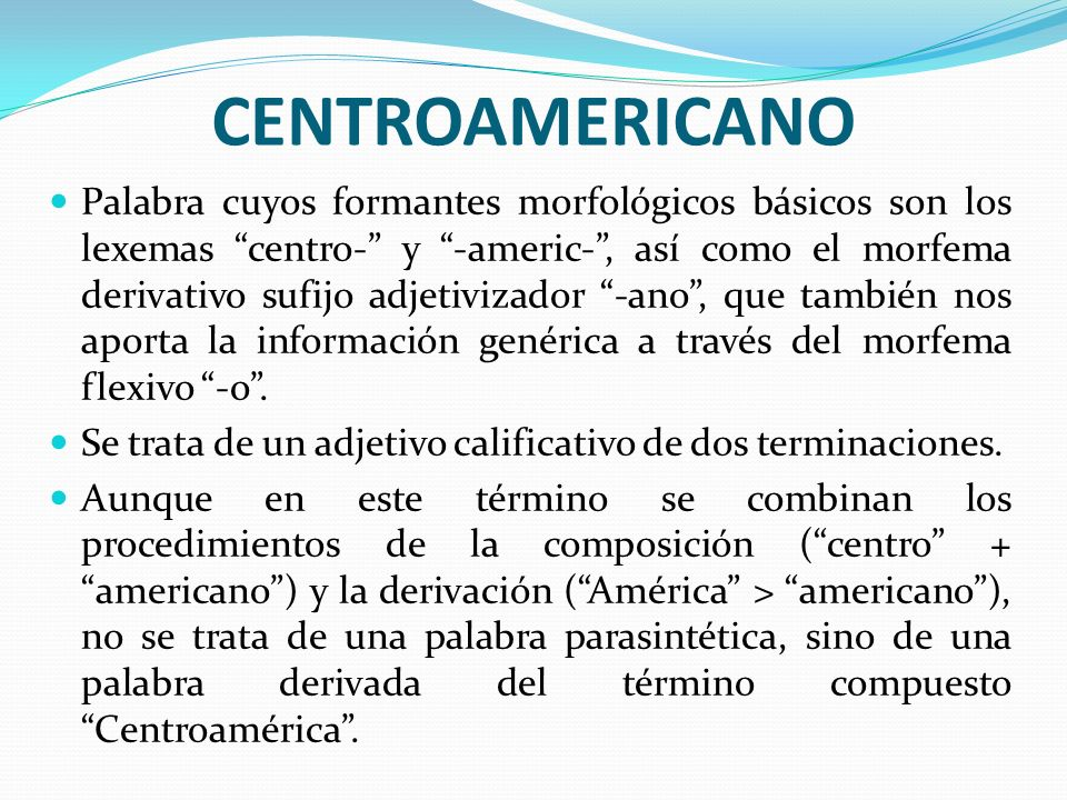 CENTROAMERICANO