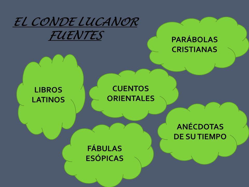 EL CONDE LUCANOR FUENTES