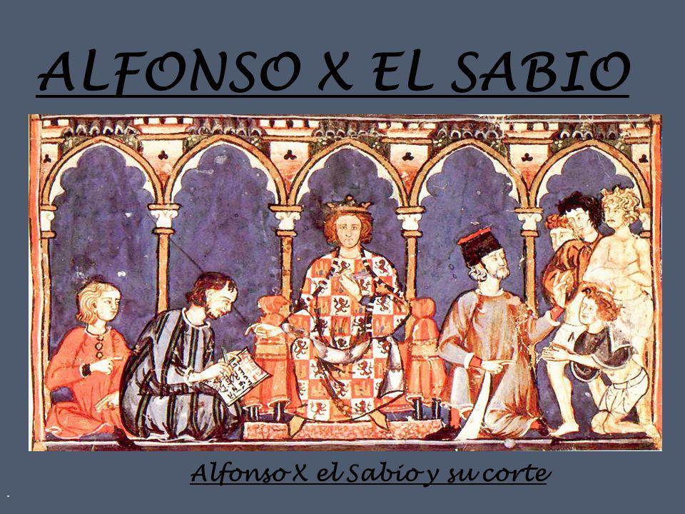 Alfonso X el Sabio y su corte
