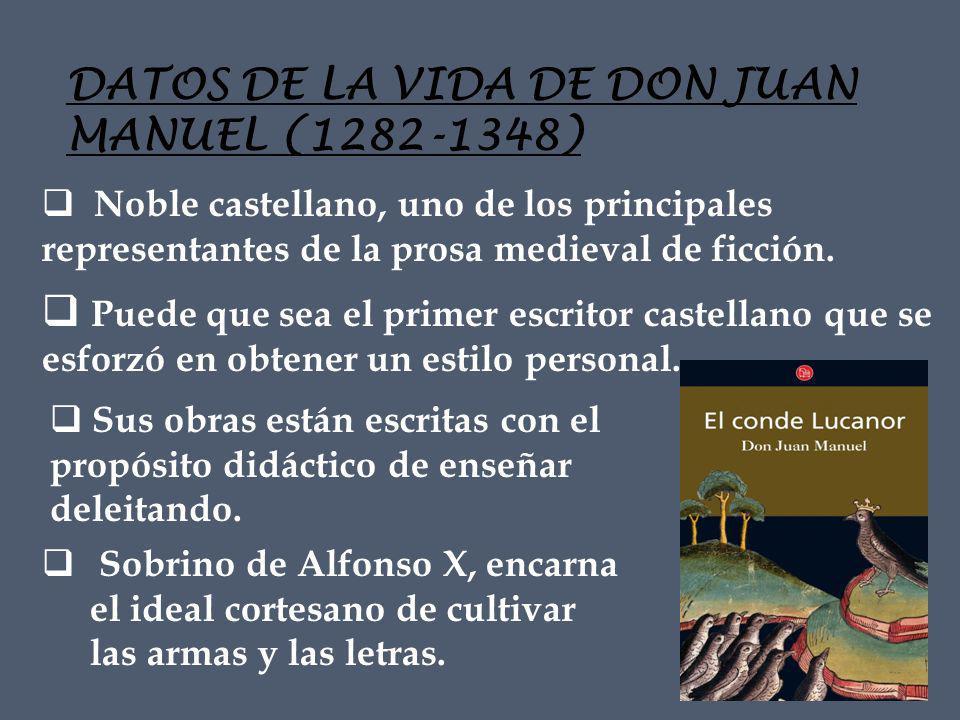 DATOS DE LA VIDA DE DON JUAN MANUEL (1282-1348)