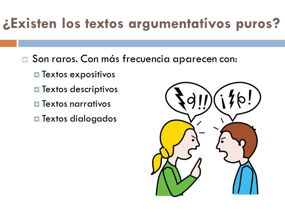¿Existen los textos argumentativos puros