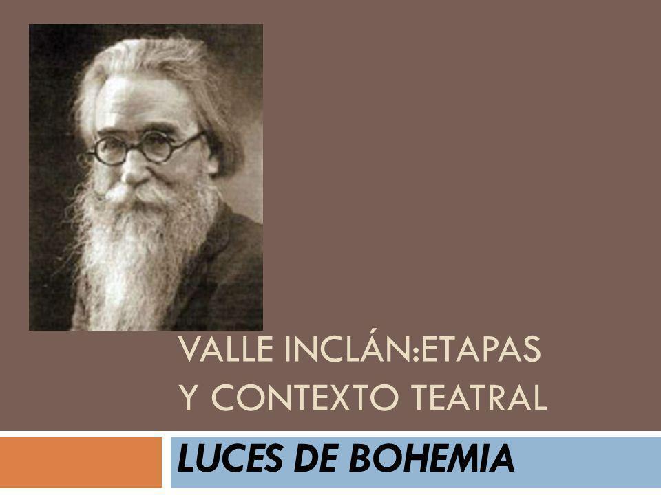 VALLE INCLÁN:ETAPAS y contexto teatral