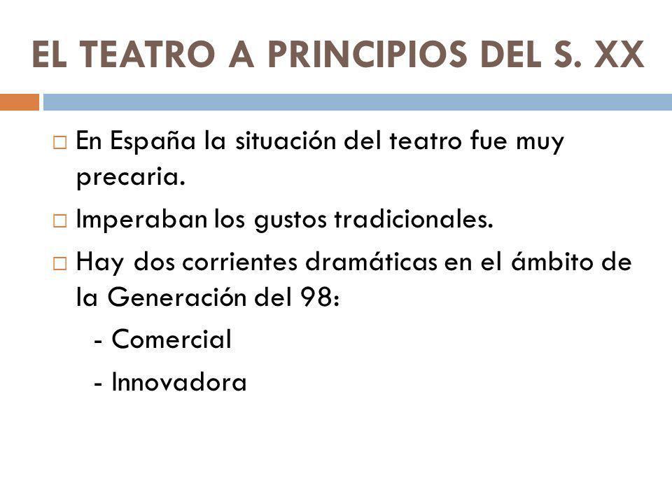 EL TEATRO A PRINCIPIOS DEL S. XX