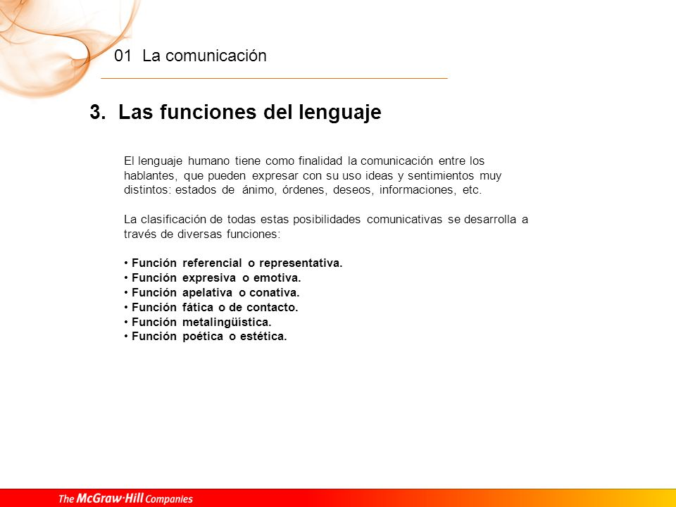 3. Las funciones del lenguaje