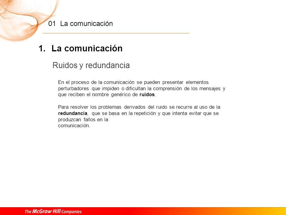 La comunicación Ruidos y redundancia