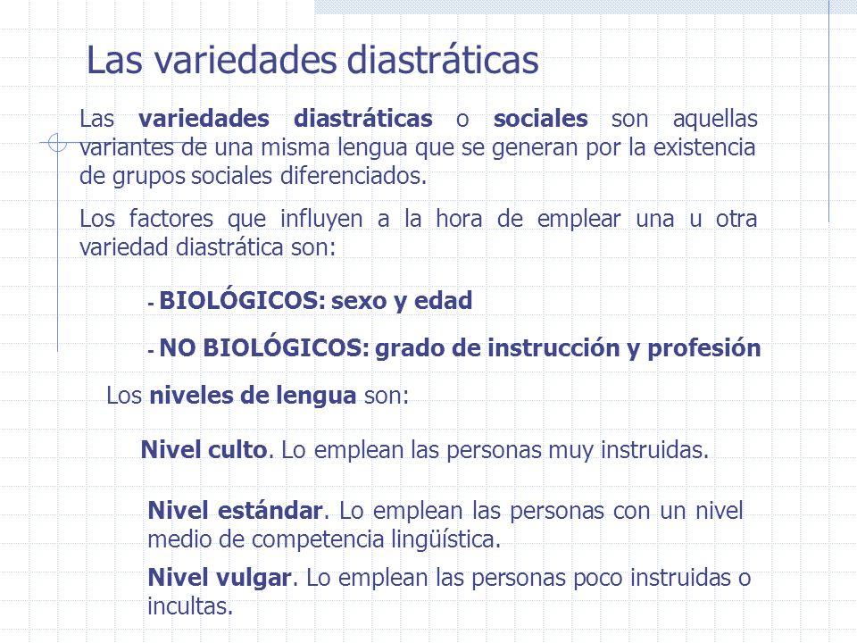 Las variedades diastráticas