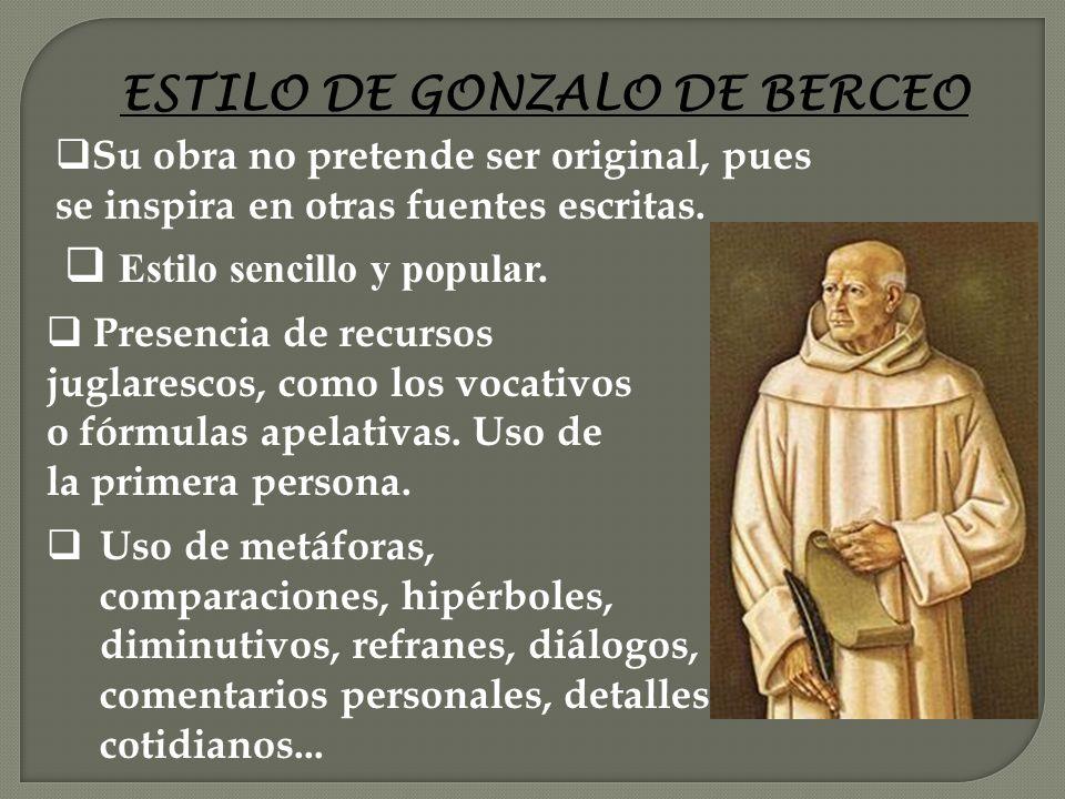 ESTILO DE GONZALO DE BERCEO