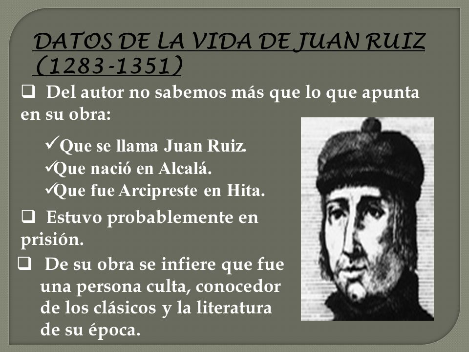 DATOS DE LA VIDA DE JUAN RUIZ (1283-1351)