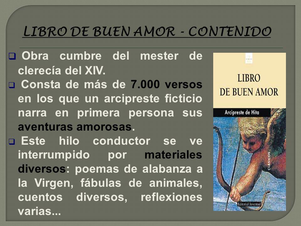 LIBRO DE BUEN AMOR - CONTENIDO