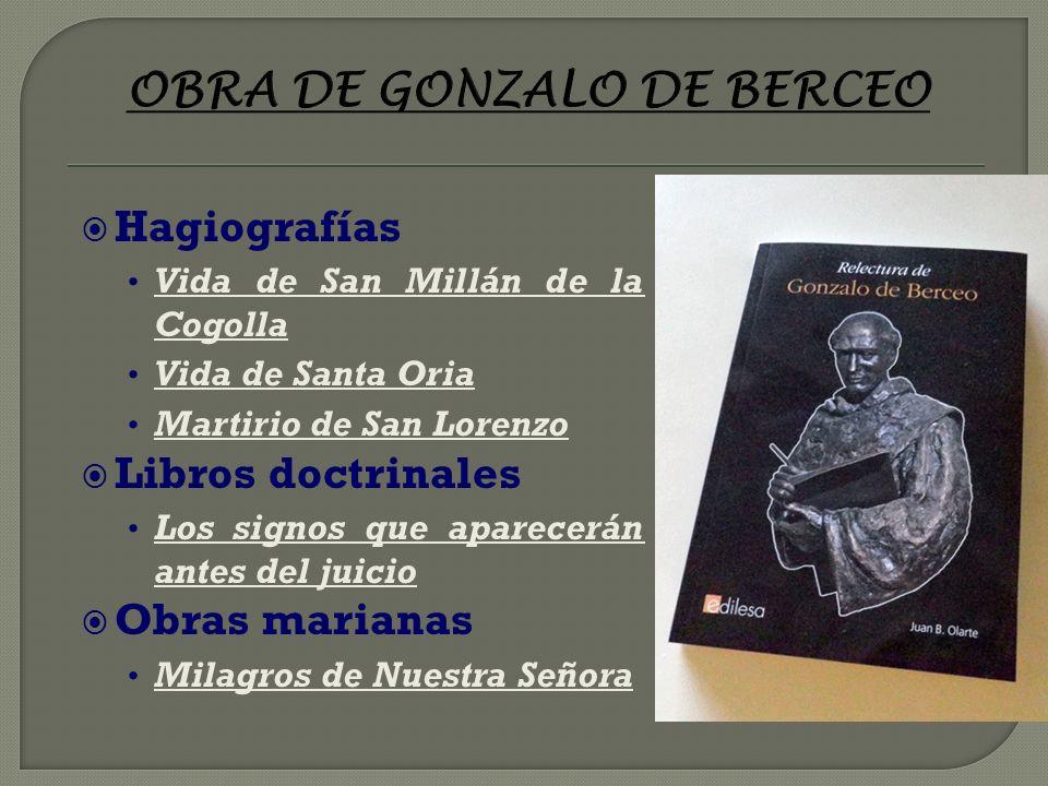 OBRA DE GONZALO DE BERCEO