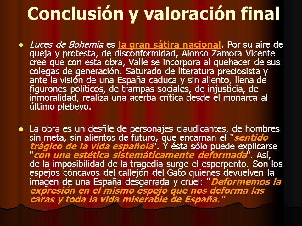 Conclusión y valoración final