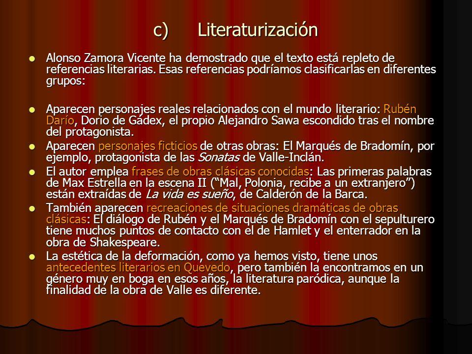 c) Literaturización