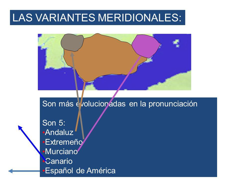 LAS VARIANTES MERIDIONALES: