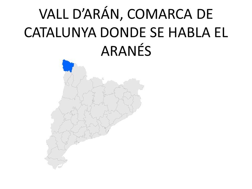 VALL D'ARÁN, COMARCA DE CATALUNYA DONDE SE HABLA EL ARANÉS
