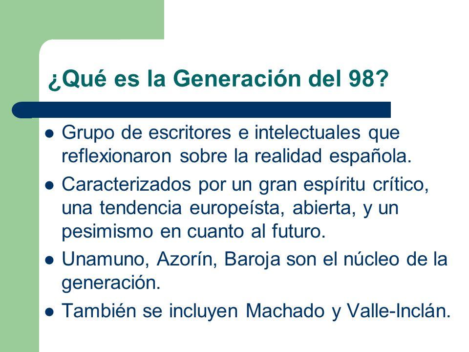 ¿Qué es la Generación del 98