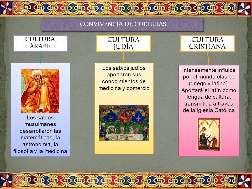 CULTURA JUDÍA CULTURA CRISTIANA . CULTURA ÁRABE