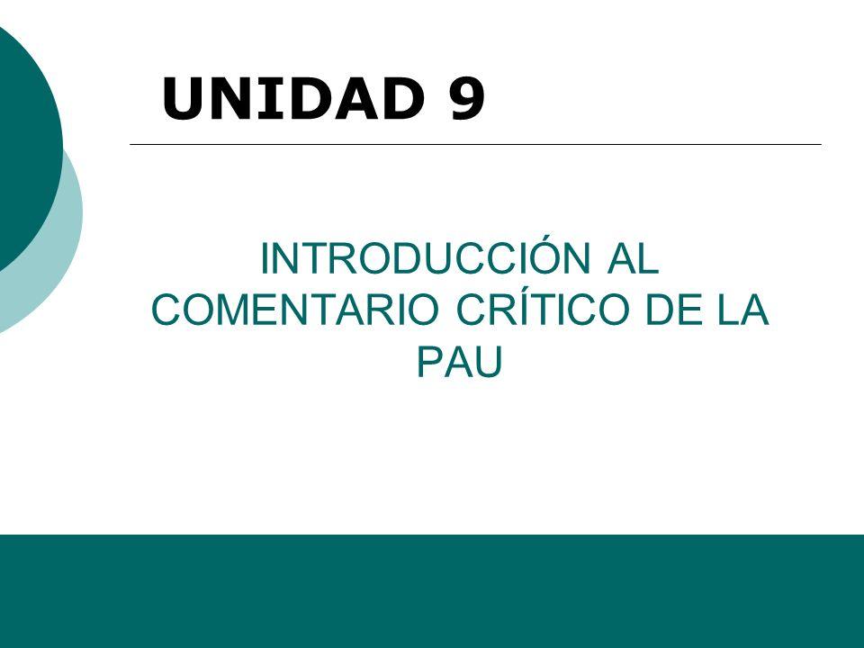 INTRODUCCIÓN AL COMENTARIO CRÍTICO DE LA PAU