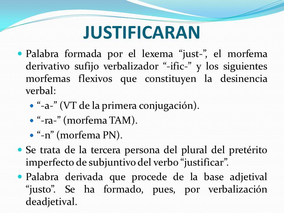 JUSTIFICARAN