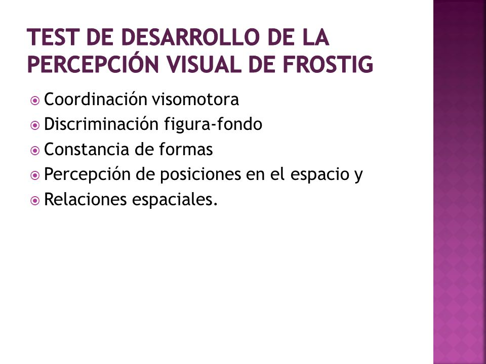 Test de desarrollo de la percepción visual de frostig