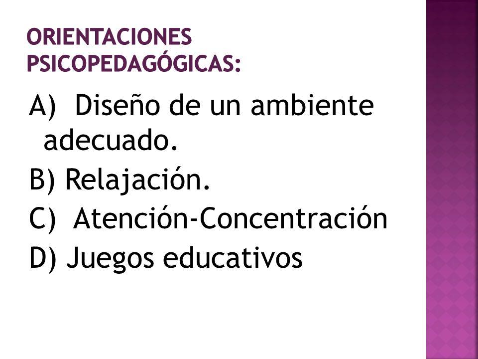 Orientaciones psicopedagógicas: