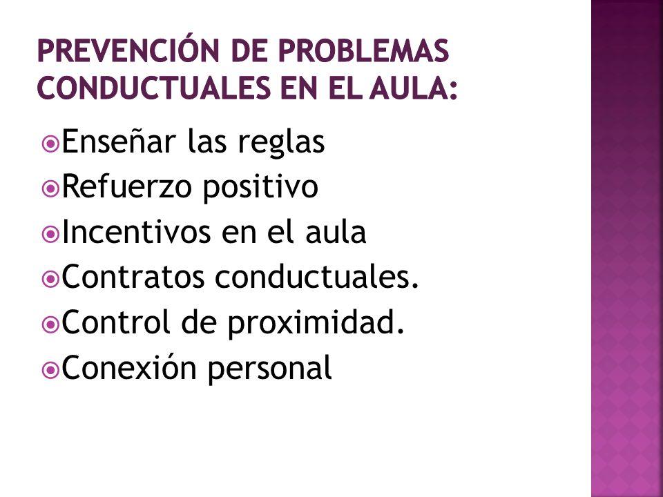 Prevención de problemas conductuales en el aula:
