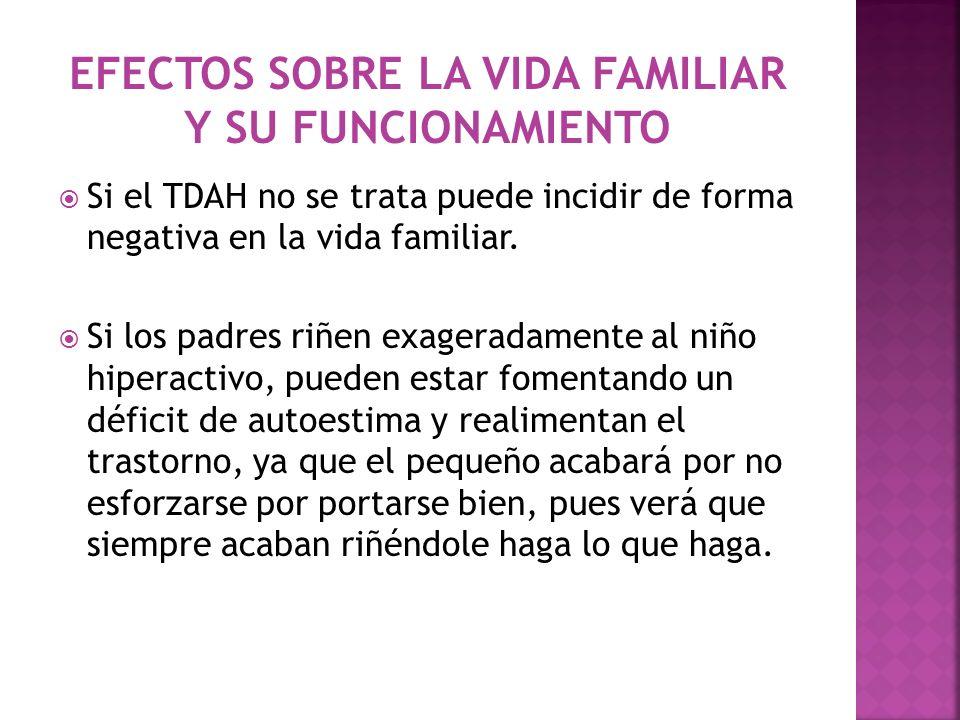 EFECTOS SOBRE LA VIDA FAMILIAR Y SU FUNCIONAMIENTO
