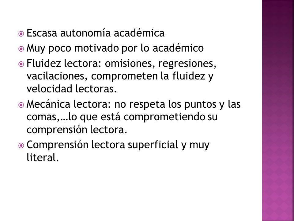 Escasa autonomía académica