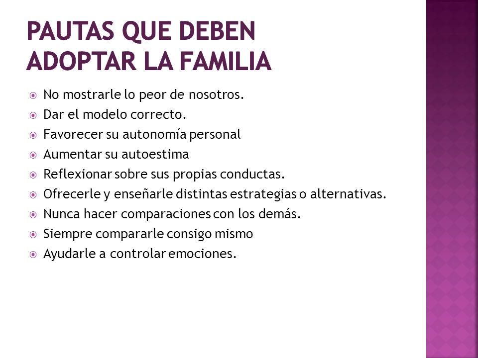 pautas que deben adoptar la familia