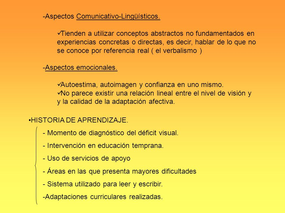 Aspectos Comunicativo-Lingüísticos.