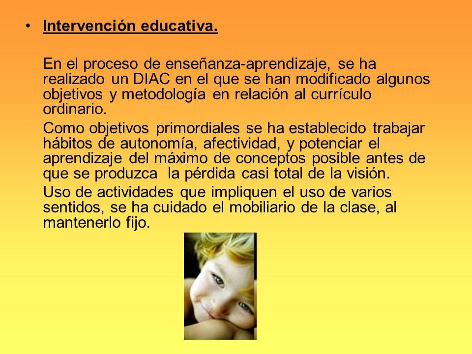Intervención educativa.