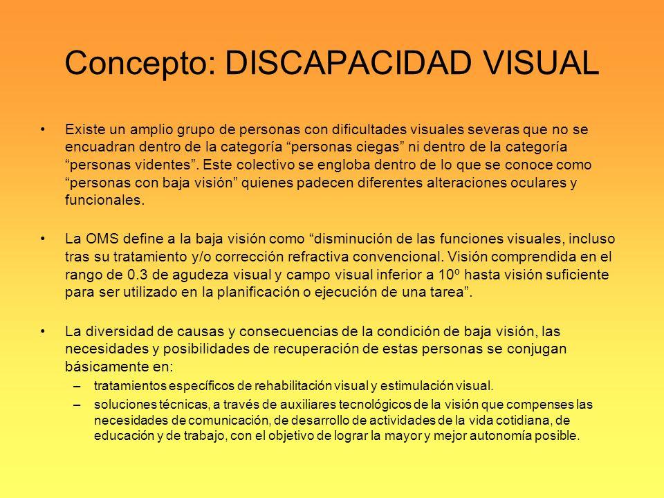 Concepto: DISCAPACIDAD VISUAL