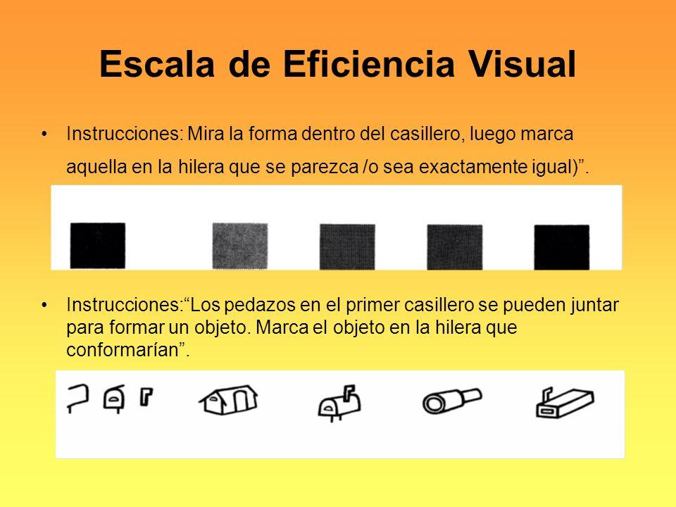 Escala de Eficiencia Visual