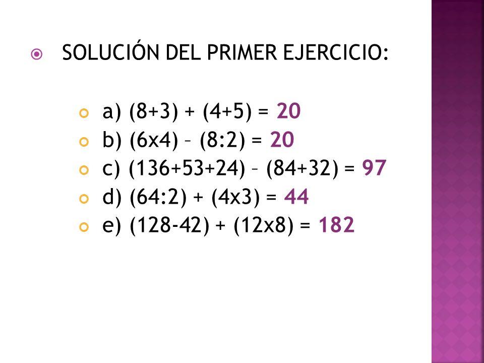 SOLUCIÓN DEL PRIMER EJERCICIO: