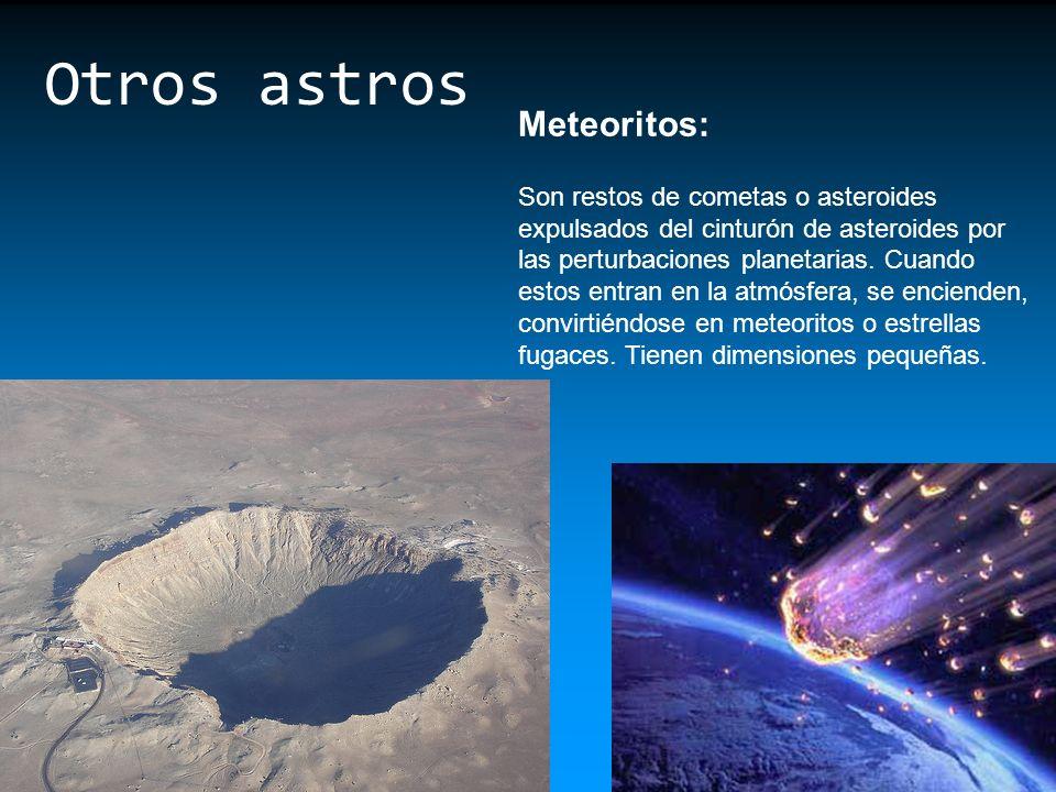 Otros astros Meteoritos: