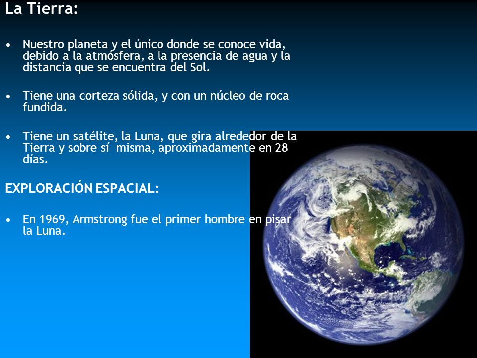 La Tierra: EXPLORACIÓN ESPACIAL: