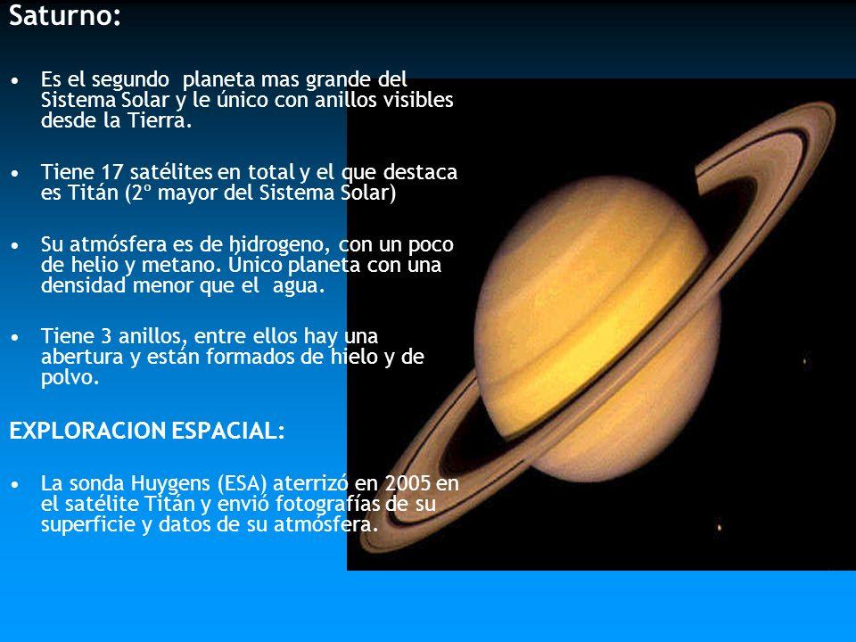 Saturno: EXPLORACION ESPACIAL: