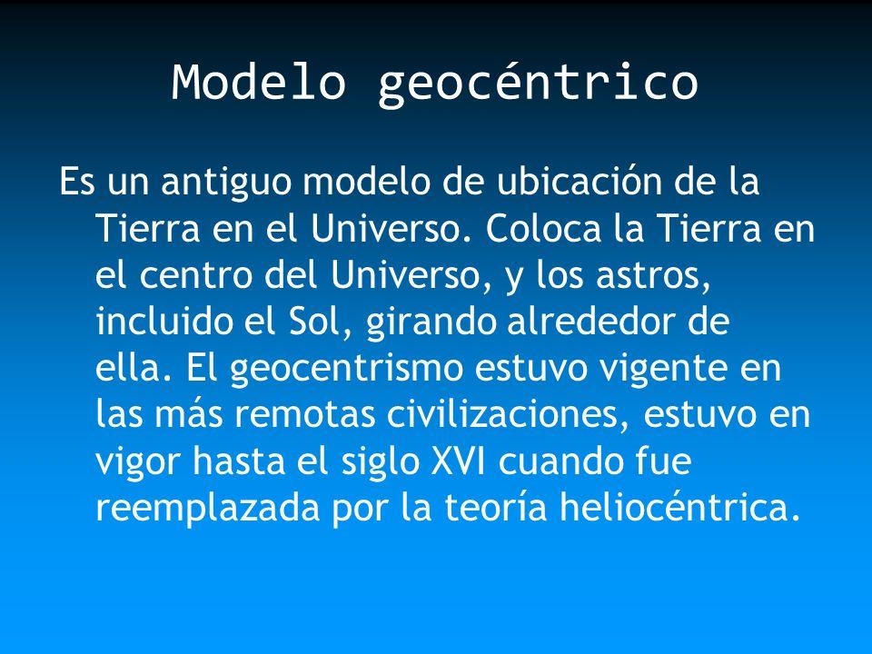 Modelo geocéntrico