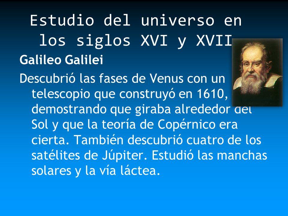 Estudio del universo en los siglos XVI y XVII