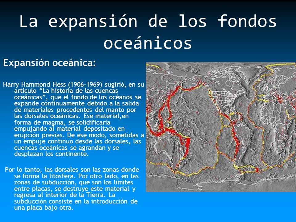 La expansión de los fondos oceánicos