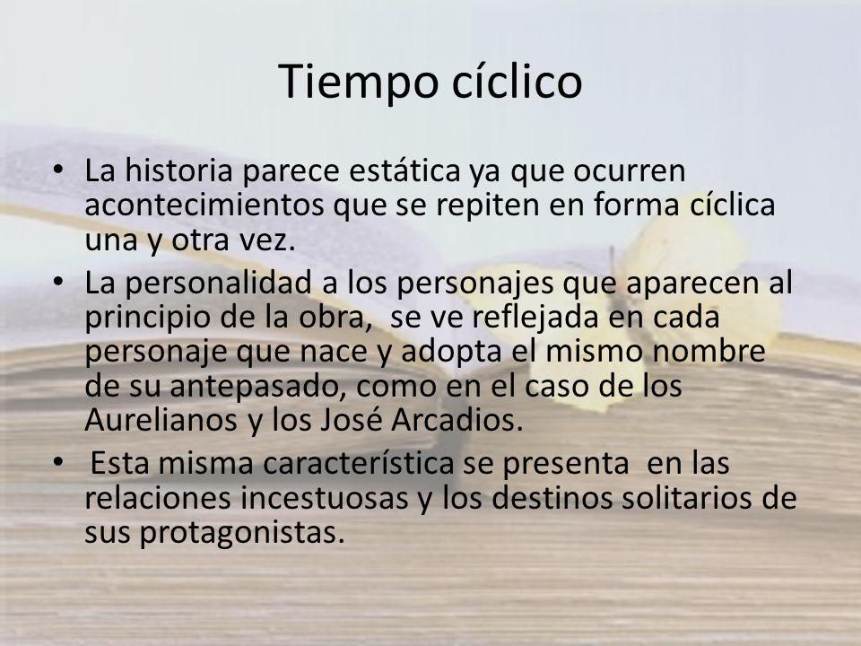 Tiempo cíclico La historia parece estática ya que ocurren acontecimientos que se repiten en forma cíclica una y otra vez.