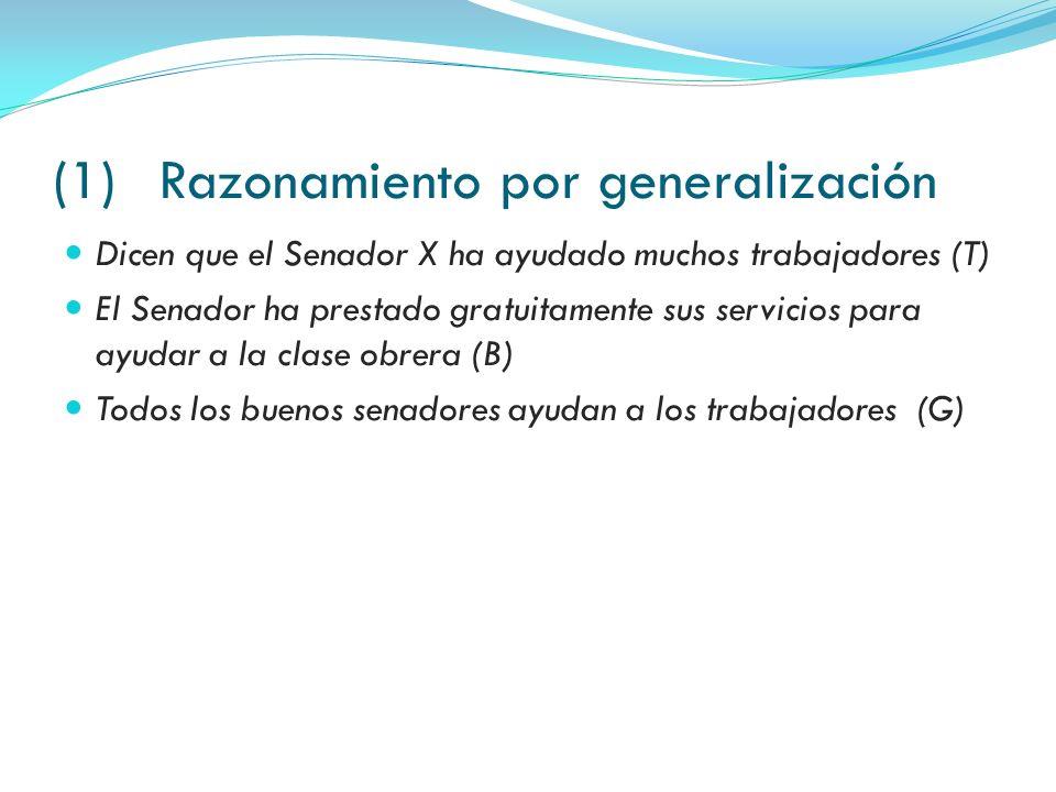 (1) Razonamiento por generalización