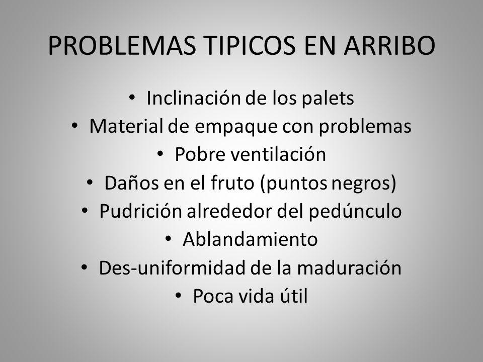 PROBLEMAS TIPICOS EN ARRIBO