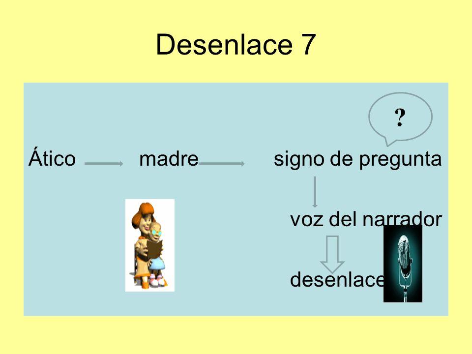Desenlace 7 Ático madre signo de pregunta voz del narrador desenlace 7