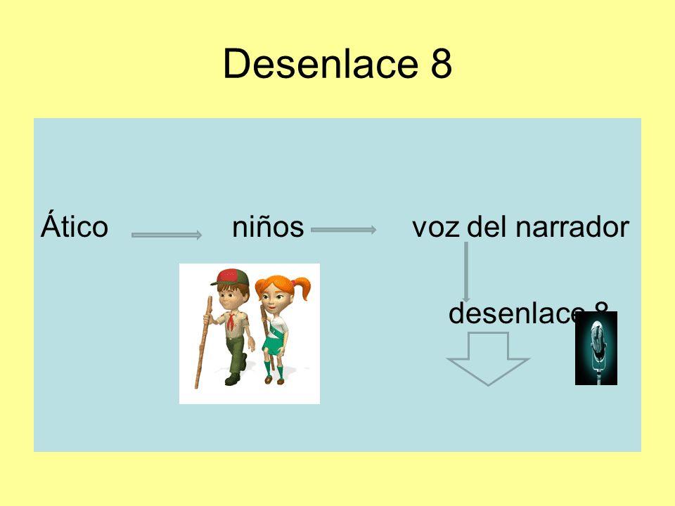 Desenlace 8 Ático niños voz del narrador desenlace 8